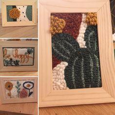 Déesse Maison - ateliers Punch Needle sous cadre bois Ikea. Toile et aiguille à puncher Kési'Art - Késigang ! Punch Needle, Facebook Sign Up, Ikea, Creations, Diy, Frame, Toile, Home, Picture Frame