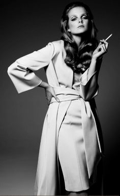 Eniko Mihalik by Gianluca Fontana  Why does attitude seem synonymous with smoking a cigarette?