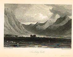 """Waverley's Keepsake - """"INVERLOCHY CASTLE"""" - Steel Engraving - 1853"""