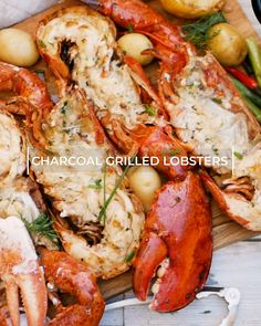 Grilled Charcoal Lobster-Grilled Charcoal Lobster 🦞Preparing a whole live lobster is a daunting task, but this recipe will get you grilling in no time. Impress your loved ones with a fancy seafood dinner tonight! Grilled Lobster Recipes, Seafood Boil Recipes, Grilled Seafood, Crab Recipes, Grilled Tiger Prawns Recipe, Grilled Prawns, Live Lobster, How To Cook Lobster, Lobster On The Grill