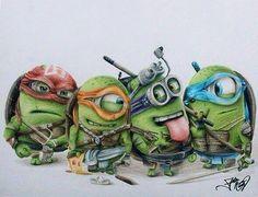 Minion Ninja turtles. This is amazing :)