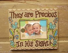 Glory Haus Painted Wood Photo Frame They are Precious In His Sight 34380 by Glory Haus, http://www.amazon.com/dp/B007FXN8G8/ref=cm_sw_r_pi_dp_YHtUpb1JYG4TF