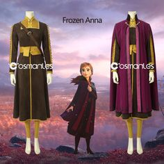Elsa, Anna, Kristoff and Olaf are going far in the forest to know the truth about an ancient mystery of their kingdom. Disney Princess Costumes, Disney Costumes, Cool Costumes, Cosplay Costumes, Halloween Costumes, Princess Outfits, Frozen Art, Disney Frozen Elsa, Anna Disney
