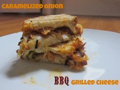Caramelized Onion BBQ Grilled Cheese | The Economical Eater #vegetarian