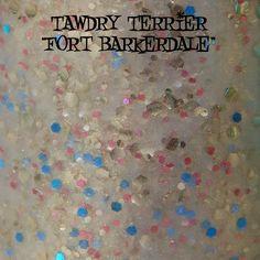 "Tawdry Terrier ""Fort Barkerdale"" #macro shot. Available at http://www.etsy.com/shop/TawdryTerrier #nailpolish #indienailpolish"