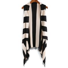 With Tassel Vertical Striped Cardigan (212.415 IDR) ❤ liked on Polyvore