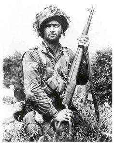 U.S. Paratrooper, Normandy, 1944.