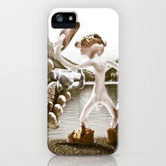 Naked Cowboy (retro color) iPhone & iPod Case by Martin Misik - $35.00 // #iphone #mobile #phone #case #art #sculpting #clay #cowboy #naked #gun #revolver #gun #society6 #lake #alcohol #bottle #fun #humor #landscape #handmade #sculpey #vintage #retro