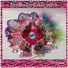 No Bullies Allowed Crazy Lady Bows $11