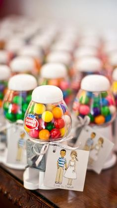 gumball machine wedding favors