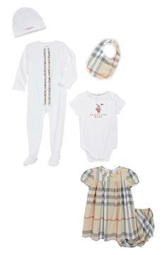 Too cute! Baby Burberry set