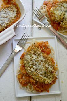 Cauliflower Parmesan (gluten-free and vegan)
