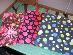 3 tote bags I made