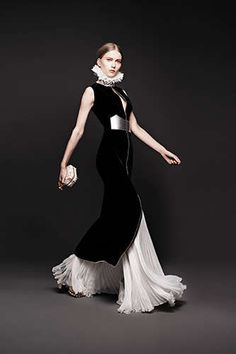 Elizabethan-Inspired Fashion - The Alexander McQueen Fall 2013 Lookbook is Regally Dramatic (GALLERY)