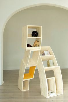 Bookcases that are feeling a little tipsy. | 20 Ridiculously Awesome Pieces Of Furniture You Wish You Could Afford