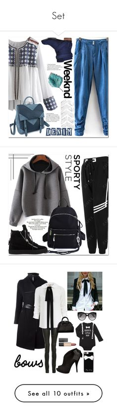 """""""Set"""" by lityley ❤ liked on Polyvore featuring Love Quotes Scarves, Giuseppe Zanotti, Mackage, ElleSD, Michael Kors, Kate Spade, Alexander McQueen, Vera Wang, Casetify and Estée Lauder"""