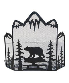Look at this Bear & Trees Fire Screen on #zulily today!