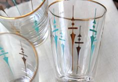 Atomic Mid Century Libbey Glasses.