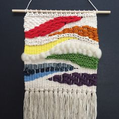Rainbow Weaving Hand Woven Wall Hanging от UnrulyEdges на Etsy