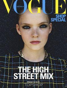 Anastasia Kolganova by Bruna Kazinoti In Shop Special supplement for Vogue Australia September 2013