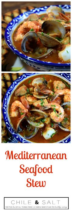 Mediterranean Seafood Stew, the ultimate guilt free comfort food. A beautiful rich tomato based broth with yellow tail, shrimp, calamari & clams. This dish is super healthy, super easy & quick to prepare & absolutely delicious making it a great choice for those busy weeknights.