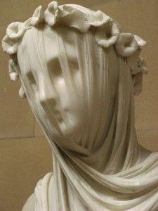 """Raffaelle Monti, A Veiled Vestal Virgin,1847, Chatsworth House, England Dans le film """"Orgueil et préjugés"""", j'avais été très impressionnée par cette sculpture de Raphael Monti nommée """"Vestale voilée"""". Pour ainsi dire, je suis extrêmement admirative devant..."""