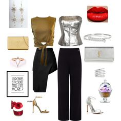 Cupcakes and Vodka by fromphilly on Polyvore featuring polyvore, fashion, style, Moschino, Pink Tartan, Opening Ceremony, Yves Saint Laurent, Stuart Weitzman, Gucci, Adina Reyter and Artland