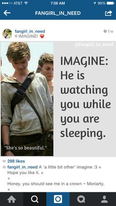 Imagine: he is watching you while you are sleeping...Little creepy, but I'll make an exception for Newt