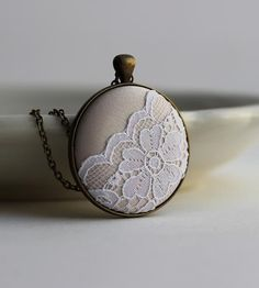 This is lovely. :: Scalloped Lace Necklace by The Whirlwind