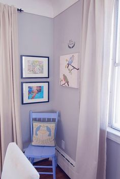 Periwinkle Blue Ideas Powder Room Contemporary With Wall