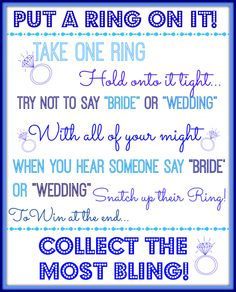 image about Put a Ring on It Bridal Shower Game Free Printable named 20 Easiest Its a Signal! visuals within just 2016 Bachelorette get together