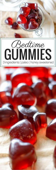 3 Ingredient Bedtime Gummies - With three simple ingredients, these Bedtime Gummies are sweetened with raw honey for extra nutrition and are overall a great wellness support. Paleo | Real Food | GAPS diet via @preparenourish #grassfedgelatin #gummies #homemadegummies