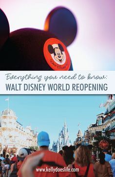 Disney World is reopening after the COVID 19 closure! Find out opening dates for Magic Kingdom, Animal Kingdom, Epcot, and Hollywood Studios. PLUS, everything you need to know before you return.