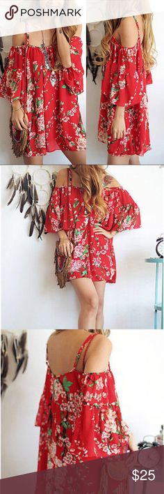 Bohemian Floral Chiffon Dress COMING SOON Like this listing to be notified once it becomes available Dresses Mini