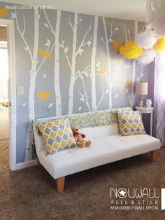 Items similar to Original Design - Winter Urban Forest Tree Wall Decal Wall Sticker - Living Room Wall Decal, Home Decor, Wall Decor on Etsy Removable Wall Decals, Vinyl Wall Decals, Wall Stickers Wallpaper, Original Design, Decoration Christmas, Decoration Bedroom, Family Tree Wall, Winter Trees, Wall Design