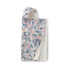 Meadow Hooded Towel | Follow the rabbit to a land of whimsy and wonder in this Scandinavian inspired floral motif. Generous in size, our hooded towel fits infants through school-age kids.