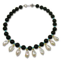 Italian Necklace with semi precious Stones