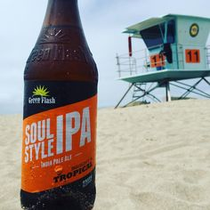 """@greenflashbeer #SoulStyleIPA for #lunch at the #beach #craftbeer #beerporn #instabeer #beerpicture #"