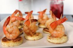 #Shrimp and #Grit Bites! Take one of your favorite shrimp #dishes and turn it into bite size #appetizers for your next #tailgate #party!