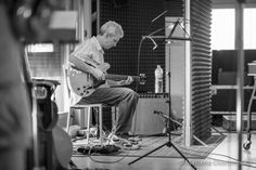 Steve Cardenas tracking with Chris Cheek at Supertone Records Studio, Estivella. Valencia. Spain. Photo by Marzena Ostromecka © 2015