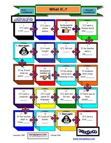 Printable Conditional Sentences, first, second, third conditionals, zero, mixed
