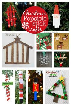 Popsicle stick crafts--great keep the kids crafting and busy activity!!! so many fun Christmas decorations and ornaments!