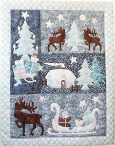 """Unser neuer Quilt """"Wintertales"""" erzählt eine romantische Winterstimmung und"""