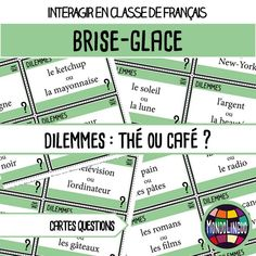Core French, French Class, First Week Activities, Class Games, Beginning Of Year, Ice Breakers, Teaching Tools, Teaching Ideas, Teaching French