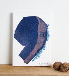 Original+Mixed+Media+Painting+in+Blue+Modern+by+BorianaMihailovska