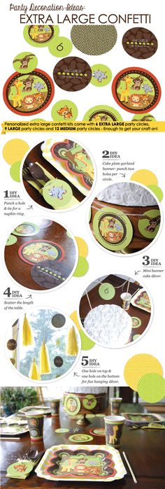 Extra Large Table Confetti Decoration Kit - DIY ideas for party decorations