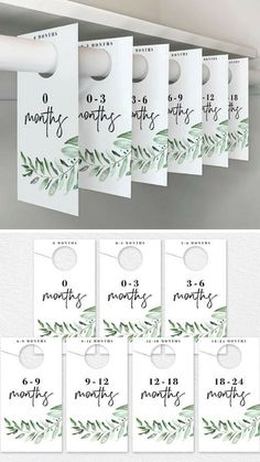 Nursery Closet Dividers, Greenery Baby Closet Dividers, Closet Organizer, Nursery Decor, Floral Nursery, PDF Instant Download #ad #printables #nursery #organization #closetdividers #homemadeclosetorganizerorganizationideas