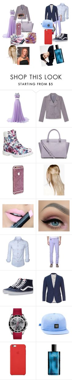 """invited from my best friend"" by julyagwada ❤ liked on Polyvore featuring Rebecca Minkoff, Timberland, MICHAEL Michael Kors, Boohoo, Fiebiger, PT01 Pantaloni Torino, Vans, Dolce&Gabbana, Lacoste and Herschel"