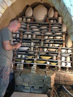 Gary Jackson. incredible kiln stacking.