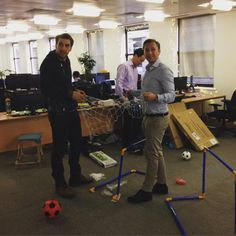 Boys and their new toys! #officefootie #happyteam Double tap and hit the link in our bio to find out more about Perkbox
